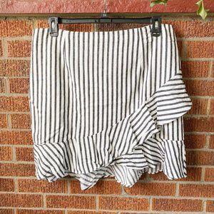 A New Day NWT Ruffle Mini Wrap Skirt 18 Striped